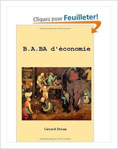 LIVRE: B.A.BA D'ECONOMIE de Gerard Dréan