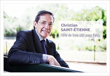 UDI:CHRISTIAN SAINT-ETIENNE CANDIDAT UDI A LA MAIRIE DE PARIS