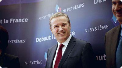 Régionales : Avec Debout la France, Nicolas Dupont-Aignan se présente en tant qu'alternative