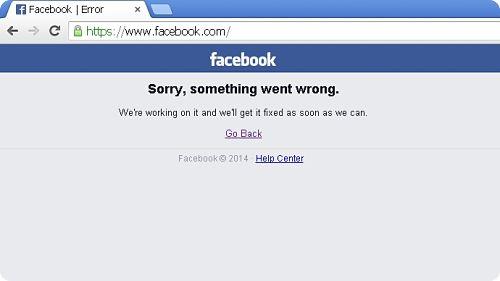 Facebook, est devenu indisponible à 18h27 heure Française.