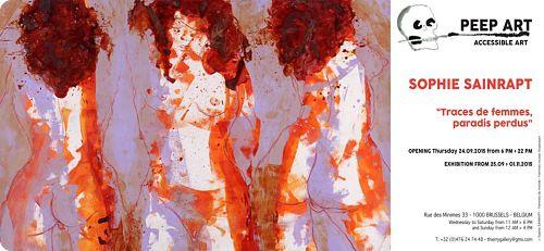 Bruxelles:  Sophie Sainrapt  présente «Traces de Femmes, paradis perdus» à la Galerie PEEP ART