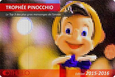 Othello récompense les meilleurs menteurs de l'année avec le Trophée Pinocchio