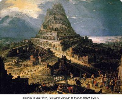La Construction de la Tour de Babel par Hendrik Hendrick ou Henry III van Cleve