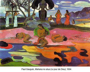 paul Gauguin,Mahana no atua (le Jour de DIEU),1894