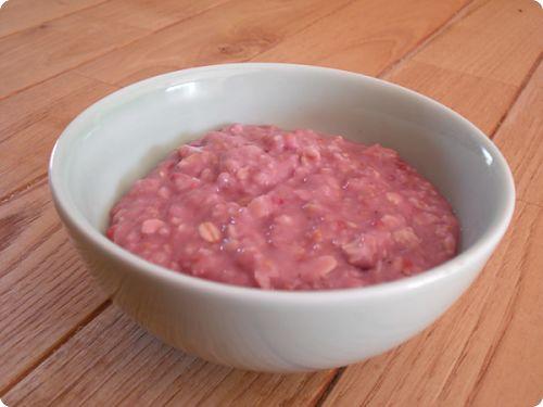 Porridge – Bouillie d'avoine et de lait