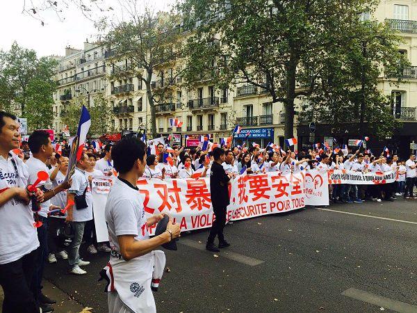 La communauté chinoise à Paris pour réclamer «la sécurité pour tous»