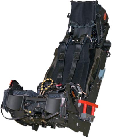 Le siège MkF16F: haute technicité qui équipe l'avion Rafale