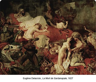 La Mort de Sardanapale d'après Eugène Delacroix