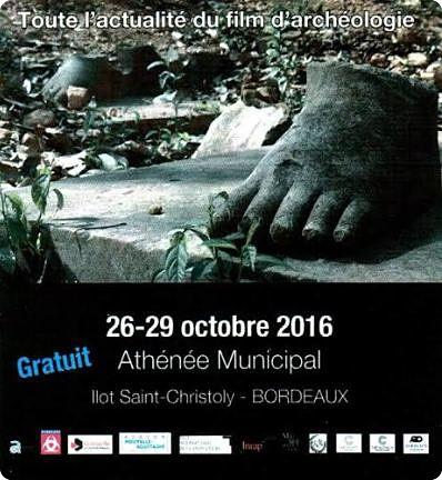 ICRONOS : 15e FESTIVAL INTERNATIONAL DU FILM D'ARCHEOLOGIE DE BORDEAUX (BIENNALE).