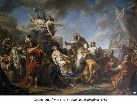 Charles André van Loo, Le Sacrifice d'Iphigénie