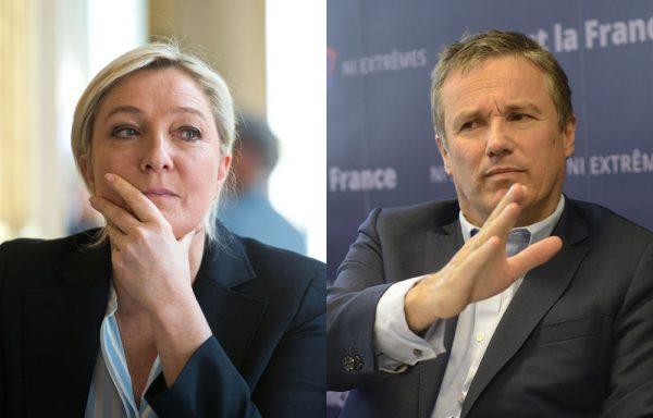 «Ne jamais dire jamais» : Dupont-Aignan ne ferme pas la porte à un futur rapprochement avec le FN