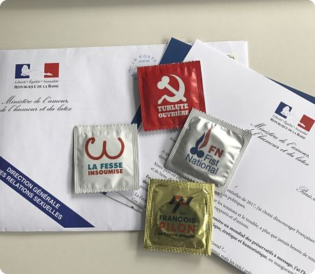 Des préservatifs aux couleurs… des candidats à l'élection présidentielle !