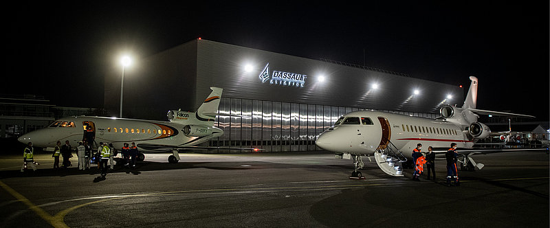 Épidémie : Dassault a mis deux Falcon à disposition